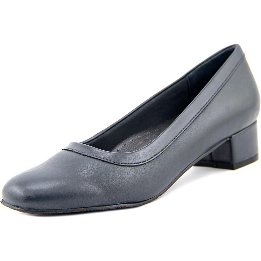 Trotters Dora Women N S Square Toe Leather Blue Loafer by Trotters