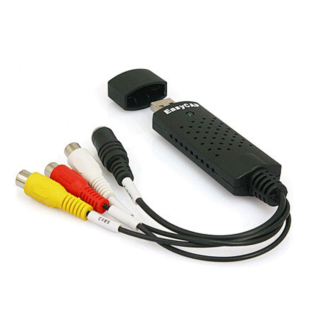 Portable USB 2.0 Video Audio Capture Card Adapter Composite RCA Video Acquisition Card Black