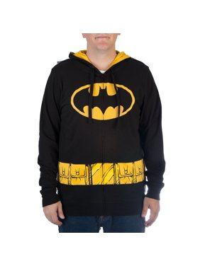 a220a698f Product Image DC Comics Big Men's Lightweight Cosplay Zipper Hoodie with  Ears and Cape, ...