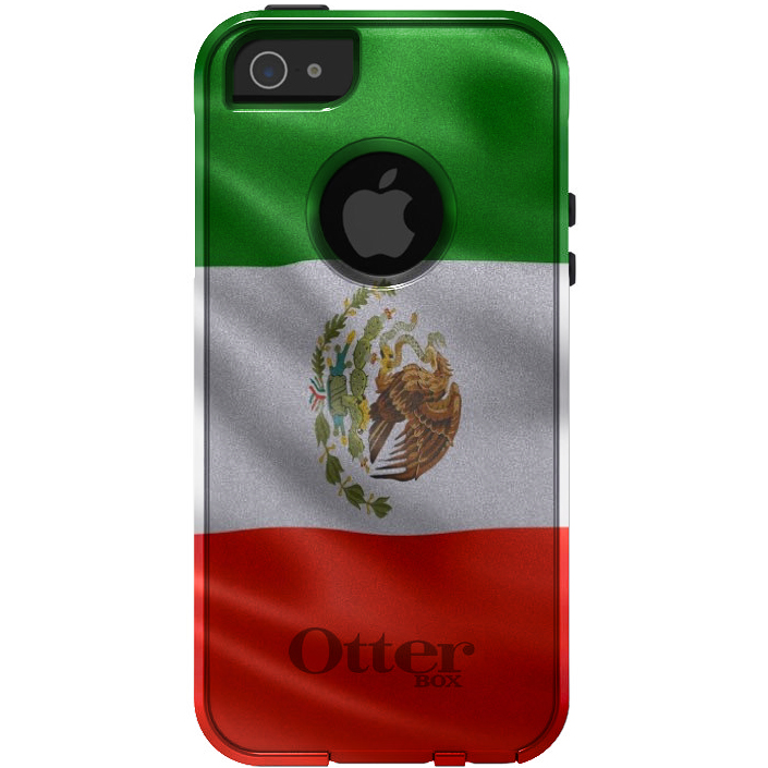 DistinctInk Custom White   Grey OtterBox Commuter Series Case for Apple iPhone 5...