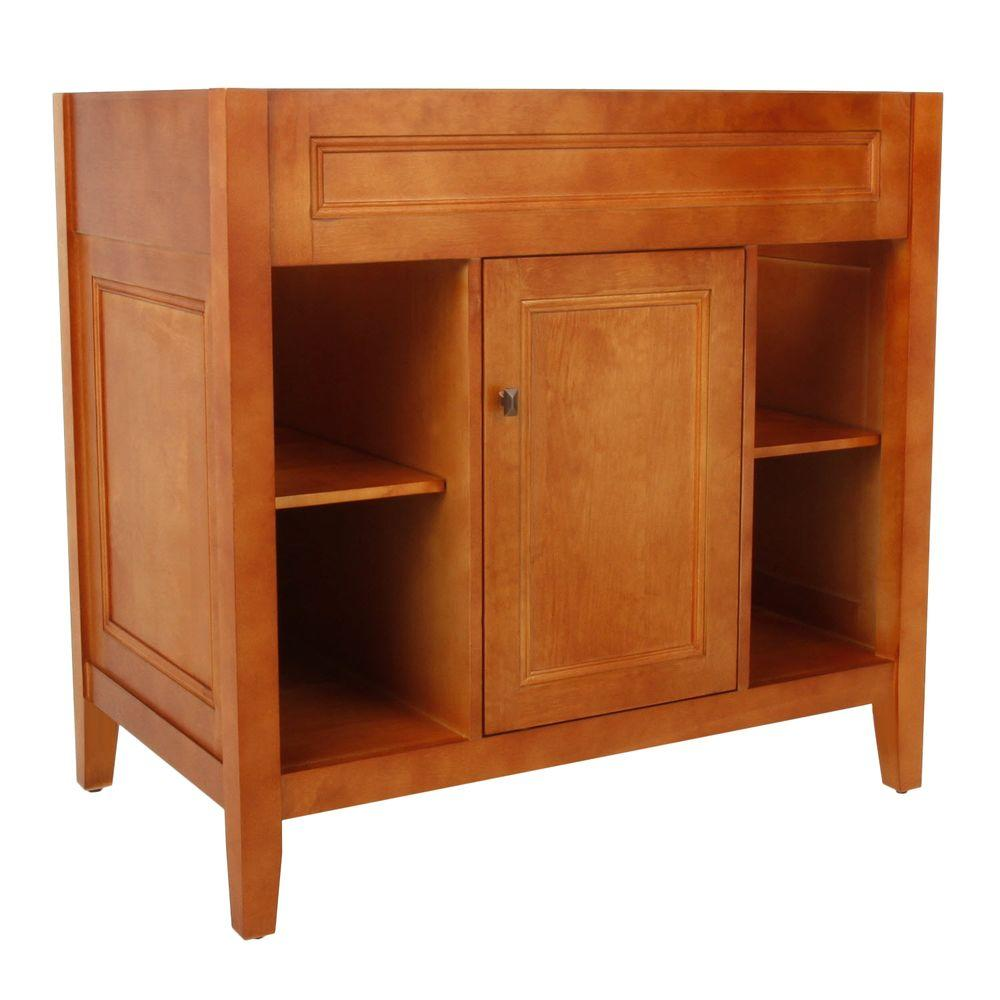 Foremost Group Exhibit Vanity Cabinet Only in Rich Cinnamon