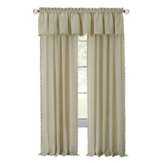 Achim WAPN84LN06 52 x 84 in. Wallace Rod Pocket Window Curtain Panel, Linen - image 1 de 1