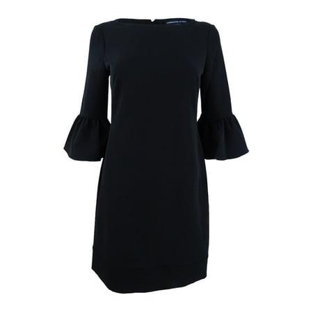 American Living Women's Bell-Sleeve Crepe Dress Solid Crepe Dress