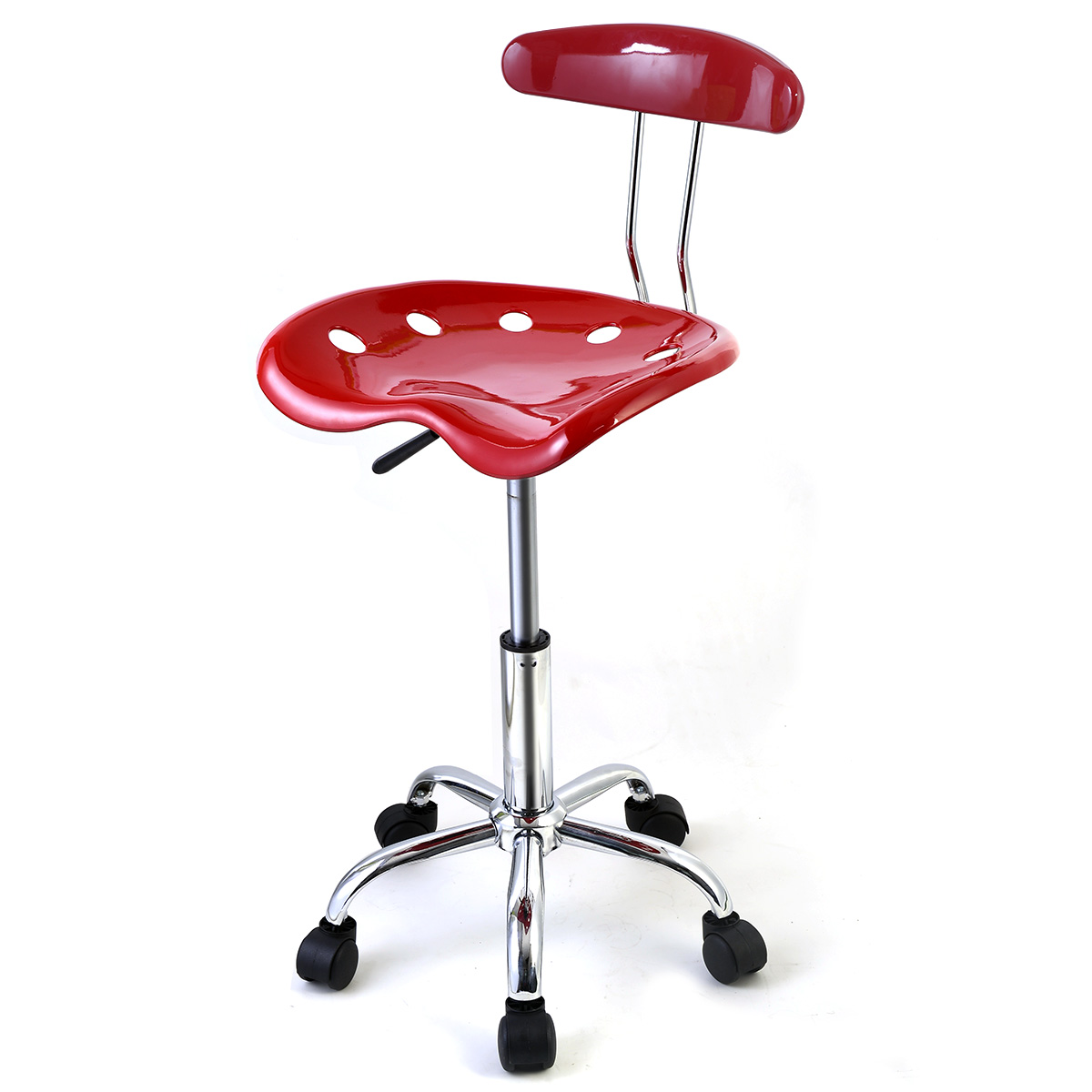 Brilliant Costway Abs Tractor Seat Adjustable Bar Stools Swivel Chrome Kitchen Breakfast Red Gmtry Best Dining Table And Chair Ideas Images Gmtryco