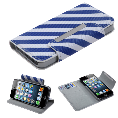 Book Style MyJacket Card Wallet Protector Cover Case for iPhone 5