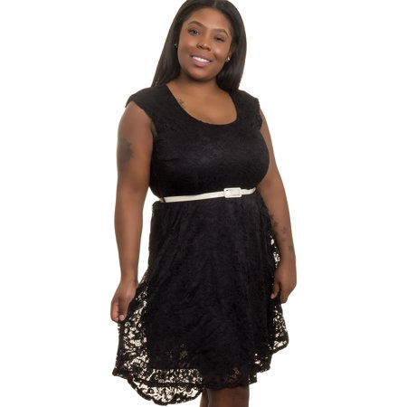 Silver Lilly - NEW Women Junior Plus Size Crochet Lace Evening Dress ...