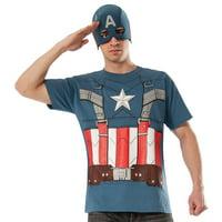 Captain America The Winter Soldier Retro T-Shirt Kit Men's Adult Halloween Costume