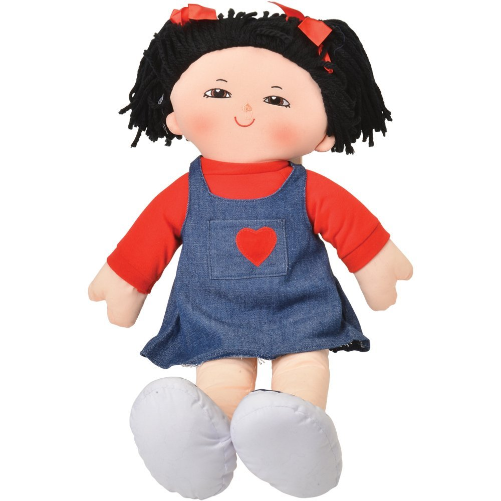 "18"" Multicultural Asian Girl Preschool Pal Rag Doll..., By Dexter Ship from US by"