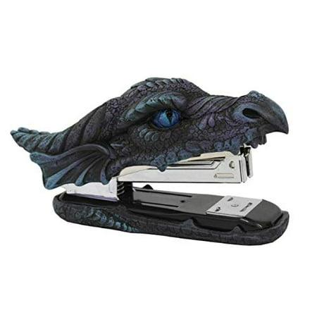 Dragon Head Blue Eyes Decorative Functional Stapler Figurine Office Stationery ()