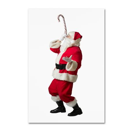Limited Ed Fine Art (Trademark Fine Art 'Santa-candy cane-12106' Canvas Art by Ed Wheeler )