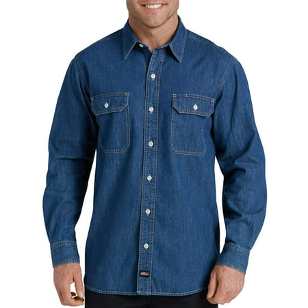 Men's Heavy Weight Long Sleeve Denim (Extra Long Work Shirt)