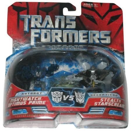 Transformers Mini Allspark Battles Figure Set - Night Watch Optimus Prime Vs. Stealth