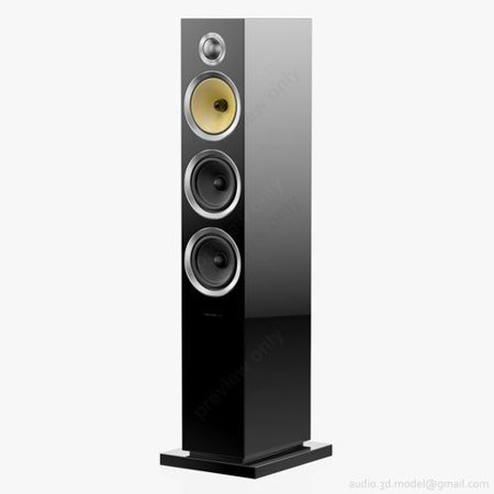 Bowers & Wilkens (CM8 S2) Single Floor-Standing Speaker - Gloss Black (Refurbished)