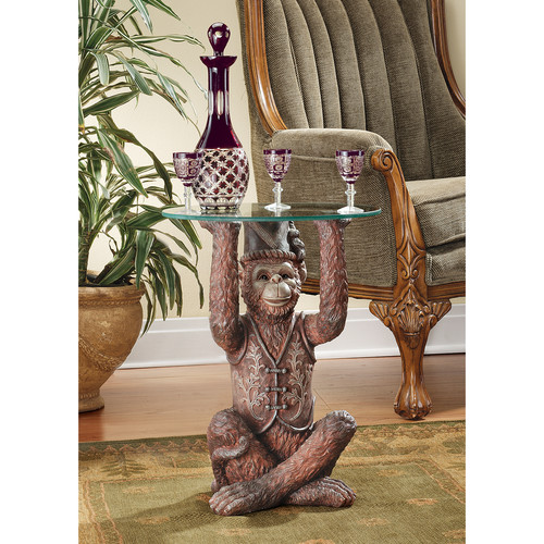 Design Toscano Moroccan Monkey Business Sculptural End Table