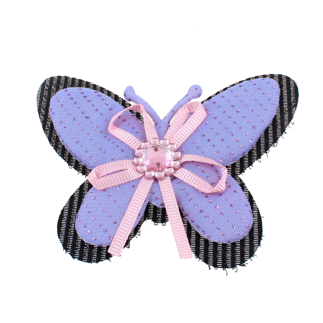 Unique Bargains Purple Butterfly Shaped Holding Foretop Hair Bangs Magic Sheet
