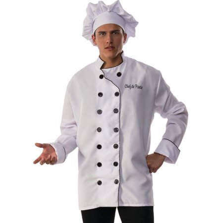 Men's Chef De Partie White Jacket And Hat Costume - Gifs De Halloween