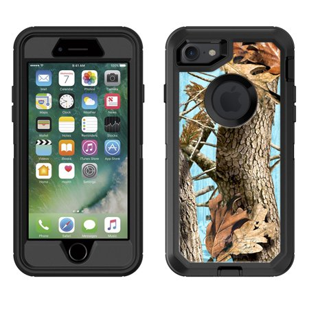 timeless design 6c48b f97fc Skin Decal for Otterbox Defender Apple iPhone 8 Case - Camo Tree on Blue  DECAL, NOT A CASE
