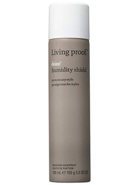 ($23 Value) Living Proof No Frizz Humidity Shield Finishing Hairspray, 5.5 Oz