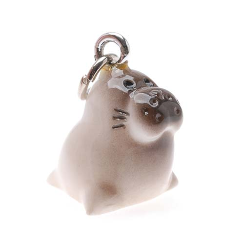 Hand Painted 3-D Baby Seal Charm 18mm Lightweight (1)
