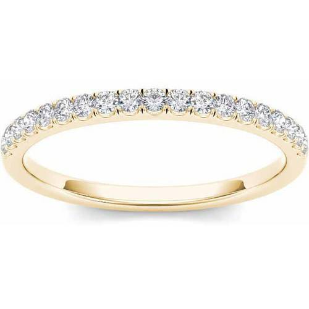 1/4 Carat T.W. Diamond 14kt Yellow Gold Wedding Band