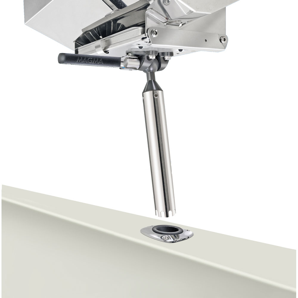 "Magma T10-355"" LeveLock"" All-Angle Fish-Rod Holder (HD) Mount for All Rectangular Grills and Single Mount Tables"