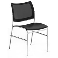 Mayline EMC25MBLK Escalate Mesh Back Chair, Black Fabric Seat - 32 x 19.5 x 21.5 in.