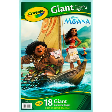 Crayola Giant Coloring Pages Featuring Disney'S Moana - Halloween Coloring Pages Disney Printable