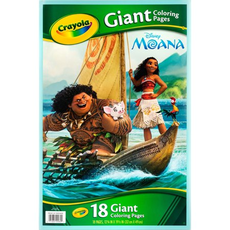 Crayola Giant Coloring Pages Featuring Disney'S Moana (Construction Coloring Pages)