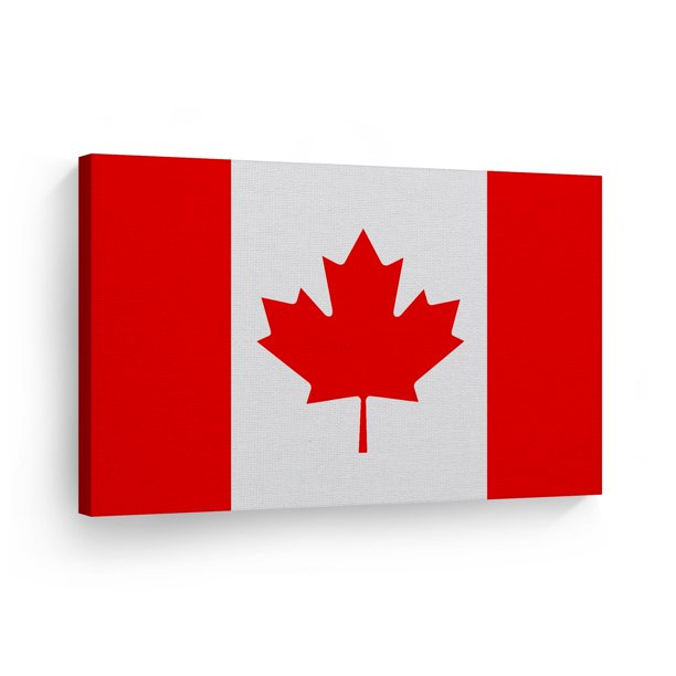 Smile Art Design Canada Flag Canvas Wall Art Print Country Flags Office Living Room Dorm Bedroom