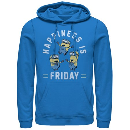 Despicable Me Men's Minion Happiness is Friday Hoodie Happiness Mens Hoodie