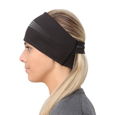 TrailHeads Adrenaline Series Women's Performance Ponytail Headband - black / reflective
