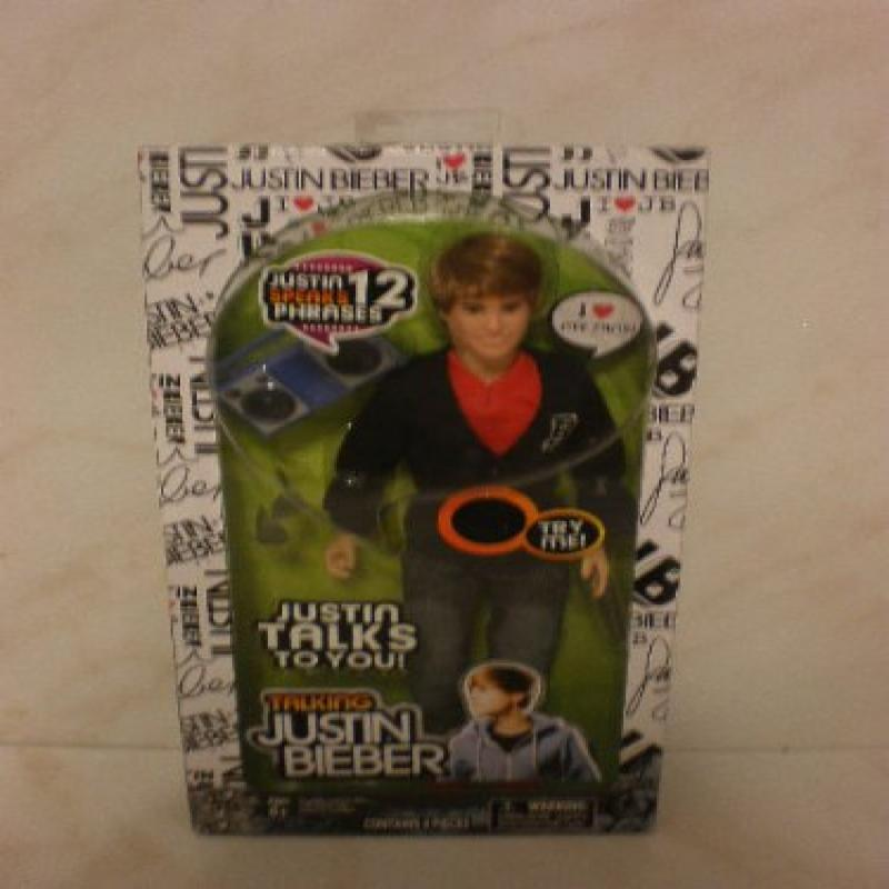 Bravado Talking Justin Bieber Doll 4 Piece with Black Let...