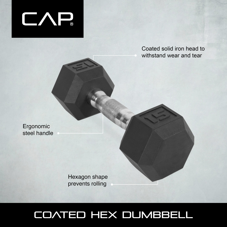 CAP Barbell Coated Hex Dumbbells, Set of 2 5lbs - Walmart com