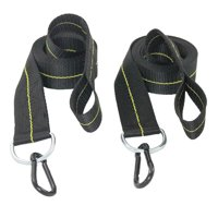 Hammock Straps - Tree Straps With Carabiner - 2 Inch X 8 Foot - Heavy Duty 4,000 lb Webbing - Hammock Tree Straps - Made in USA