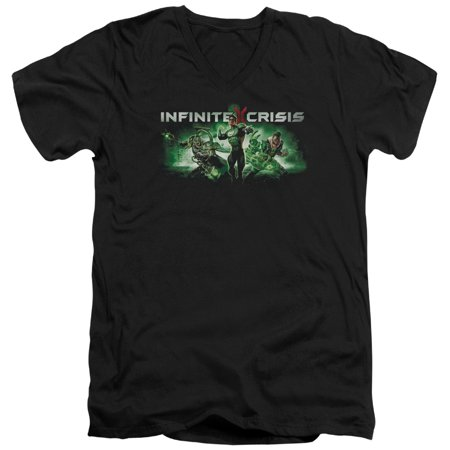 Infinite Crisis - Ic Green - Slim Fit V Neck Shirt - Large