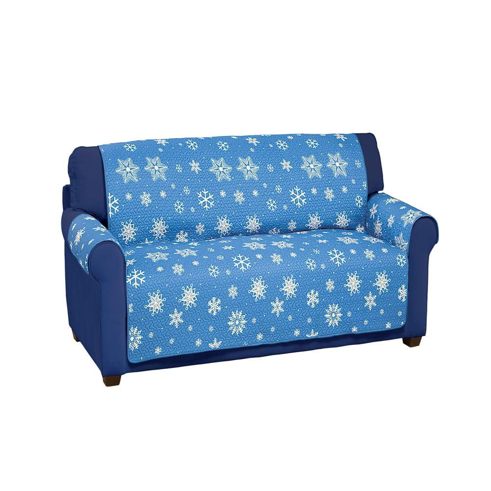 Reversible Snowflake Furniture Protector Cover, Loveseat