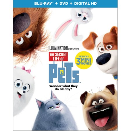 The Secret Life Of Pets (Blu-ray + DVD + Digital HD) (The Movie Life)