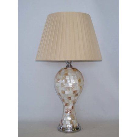 - NU Steel Colorful Shell Mosaic 19'' Table Lamp