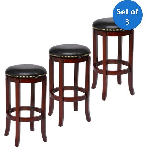 "Boraam Cordova Swivel Bar Stool, 29"", Set of 3, Multiple Finishes"
