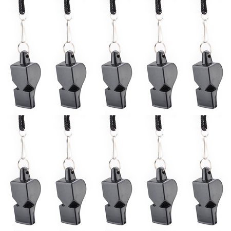 GOGO 10 PCS Pea-Less Whistles Sport Referee Classic Plastic Safety Whistle With -