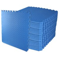 """BalanceFrom 1/2"""" EXTRA Thick Puzzle Exercise Mat with EVA Foam Interlocking Tiles for MMA, Exercise, Gymnastics and Home Gym Protective Flooring, 24 Square Feet"""