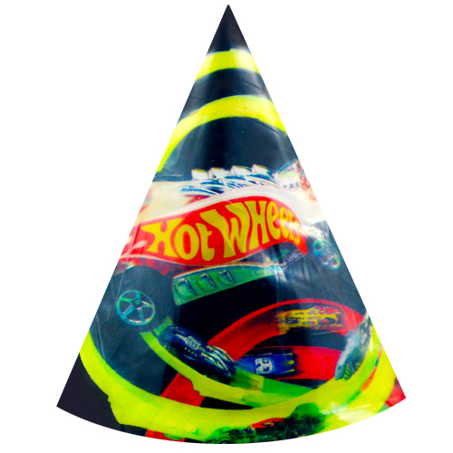 Hot Wheels Cone Hats / Favors (8ct)