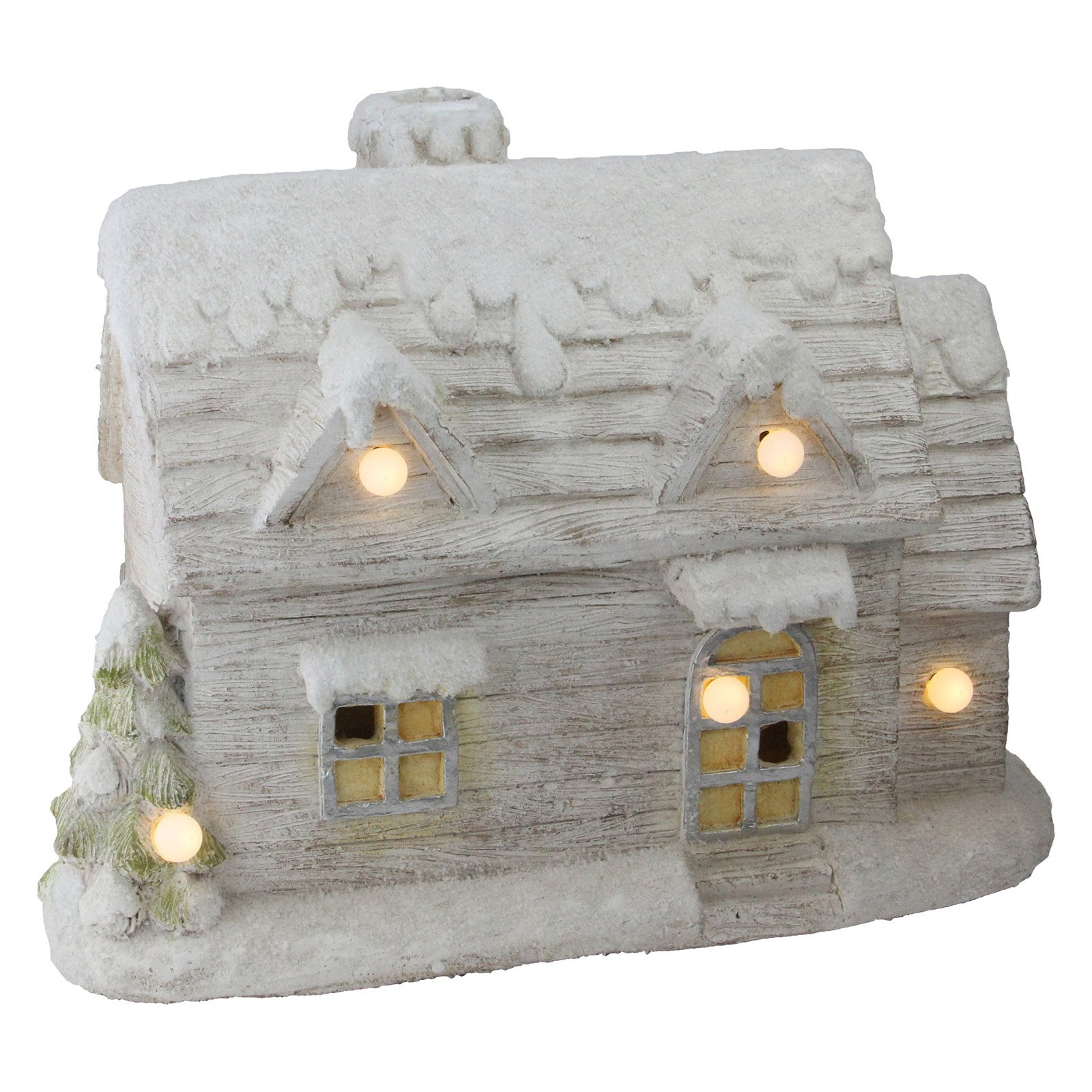Northlight 14.5 in. LED Lighted Musical Snowy Cottage Christmas Decoration