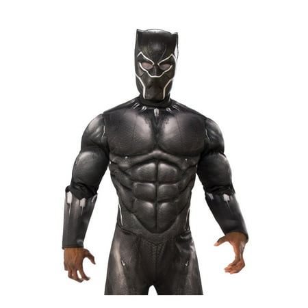 Marvel Black Panther Movie Black Panther Adult Vinyl 3/4 Mask Halloween Costume - Movie Mask