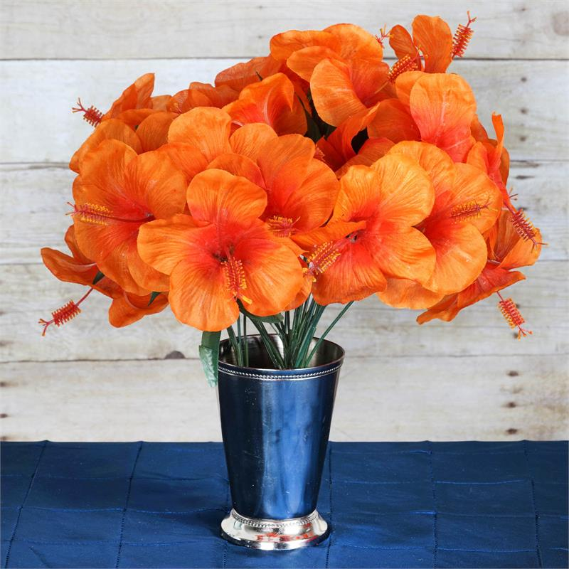 Efavormart 60 pcs Artificial HIBISCUS Flowers for DIY Wedding Bouquets Centerpieces Arrangements Party Home Decorations - 12 bushes