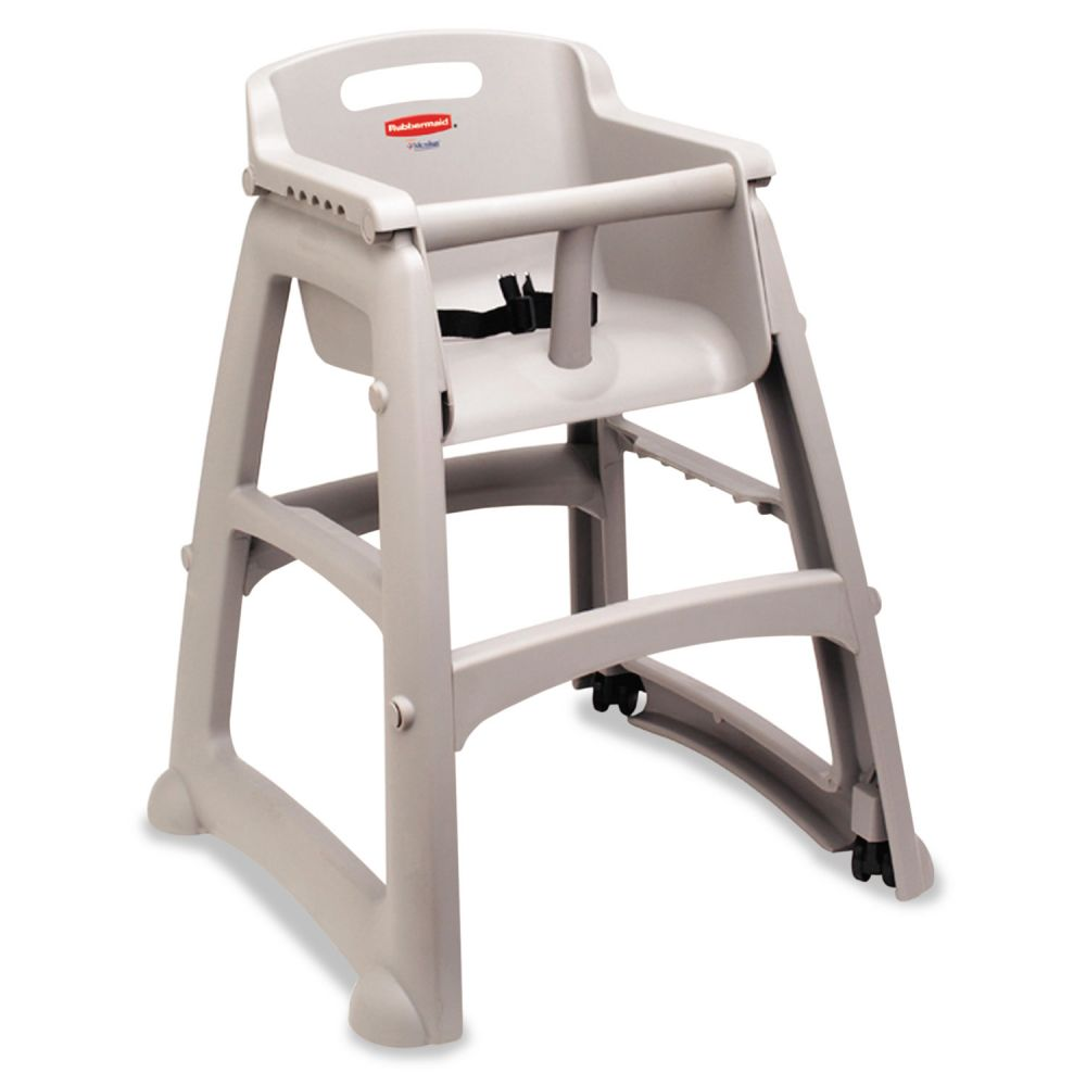 "Rubbermaid Commercial Sturdy Chair Youth Seat - 23.5"" x 23.4"" x 29.8"" - Plastic - Platinum"