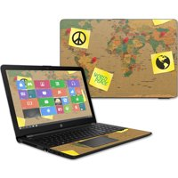 """Skin Decal Wrap for HP 15t Laptop 15.6"""" (2017) sticker World Peace"""