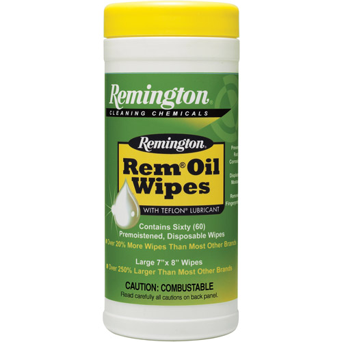 Remington Oil Wipes, 60-Count