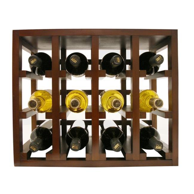 Vinotemp EP-STACK12 12 Bouteille de vin rack empilable en bois - Marron - image 1 de 1