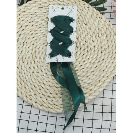 6d362df577b0 NK Fashion - NK FASHION Wide Flat Satin Ribbon Shoelaces